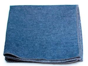 Le Coq en Pap' - Pochette de costume bleu denim jean brut foncé