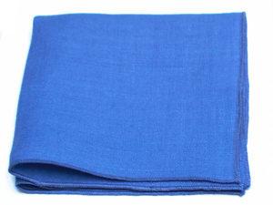 Le Coq en Pap' - Pochette de costume bleu bleuet uni en lin