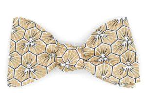 Le Coq en Pap' - Noeud papillon doré japonais kikko