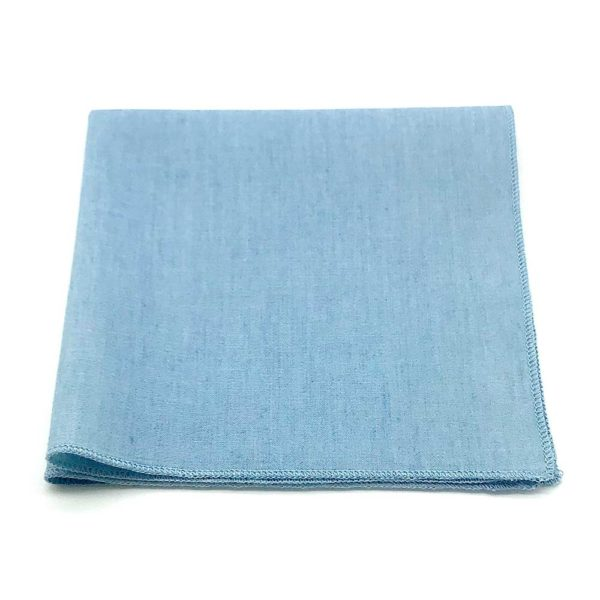 Le Coq en Pap' - Pochette de costume bleu denim jean brut clair