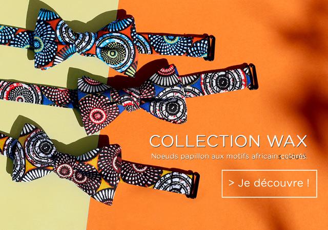noeuds papillon Gamme Wax motif africain le coq en pap slider mobile