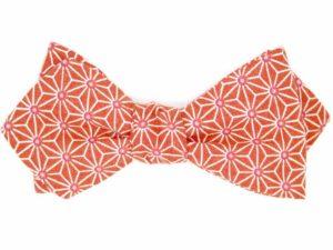 Le Coq en Pap' - Noeud papillon orange terracotta japonais saki