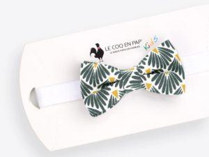 Le Coq en Pap' - Noeud papillon enfant vert empire japonais leafy