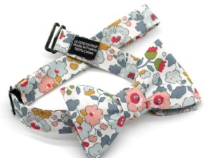 Le Coq en Pap' - Noeud papillon fleuri liberty betsy p