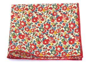 Le Coq en Pap' - Pochette de costume fleuri liberty betsy ann b