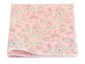Le Coq en Pap' - Pochette de costume rose pétale fleuri liberty capel s