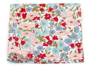 Le Coq en Pap' - Pochette de costume fleuri liberty poppy daisy a