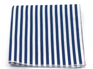 Le Coq en Pap' - Pochette de costume marine et blanc rayé marin
