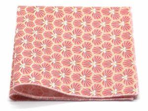 Le Coq en Pap' - Pochette de costume rose corail japonais kikko