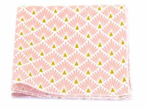 Le Coq en Pap' - Pochette de costume rose marshmallow japonais leafy