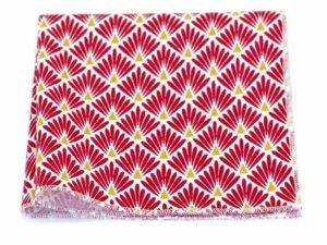 Le Coq en Pap' - Pochette de costume rouge amarante japonais leafy