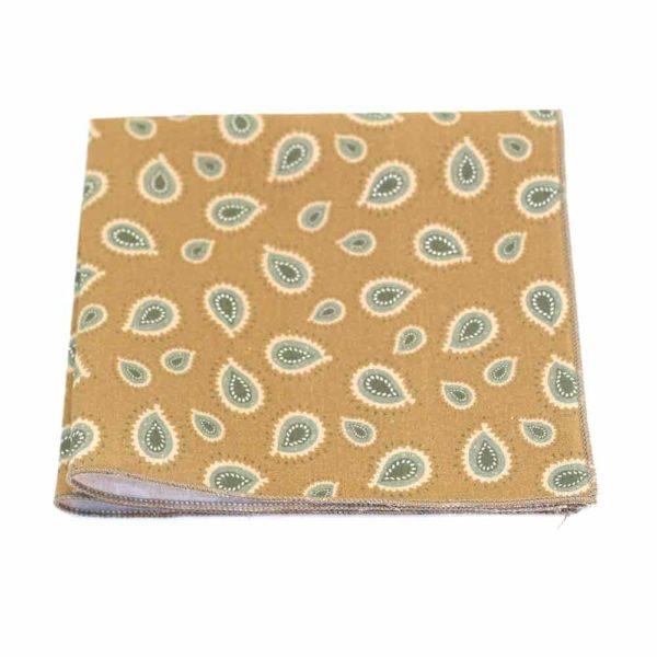Le Coq en Pap' - Pochette de costume vert olive paisley