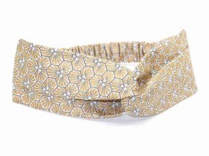 Le Coq en Pap' - Bandeau turban doré japonais kikko