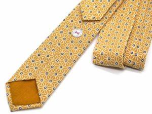 Le Coq en Pap' - Cravate jaune moutarde japonais saki