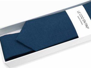 Le Coq en Pap' - Cravate bleu marine unie en lin