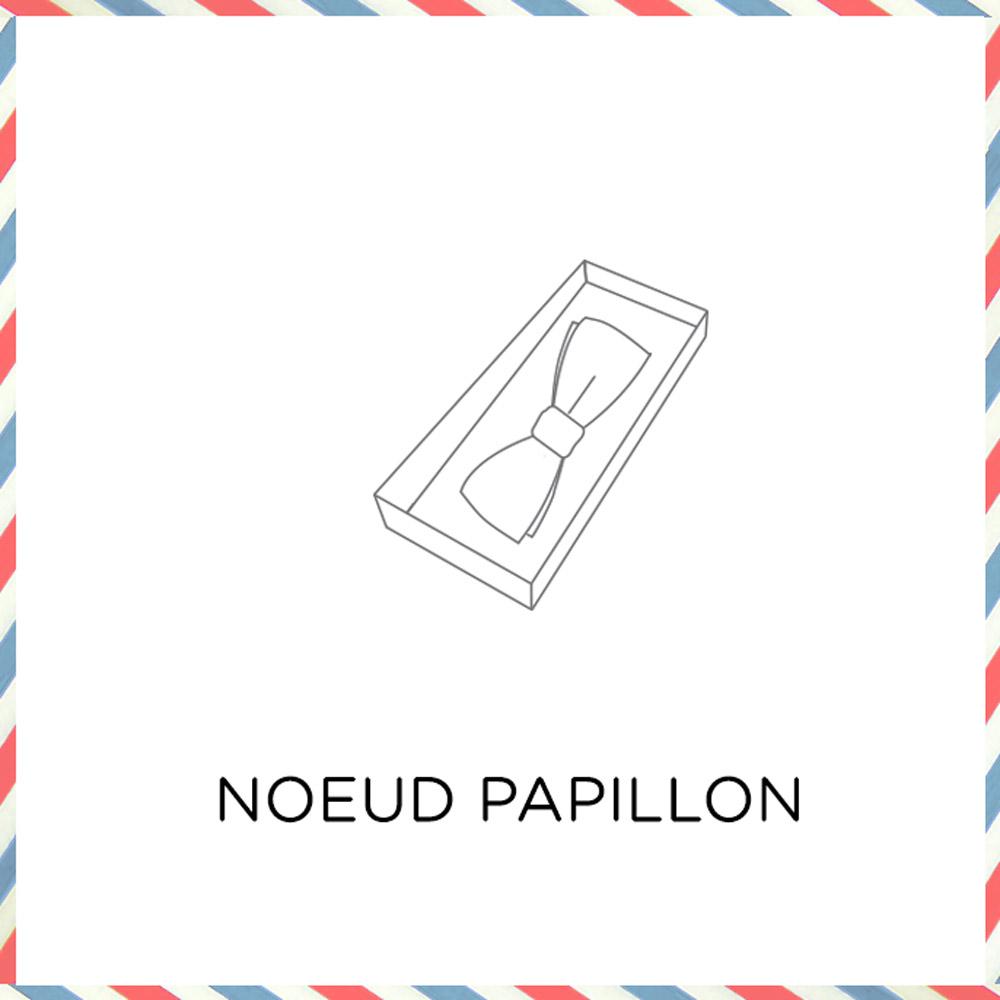 Profitez d'un large choix de noeuds papillon fabriqués en France. A associer ou non à la pochette de costume ou encore aux boutons de manchette.