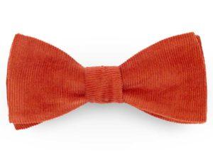 Le Coq en Pap' - Noeud papillon rouge brique uni en velours