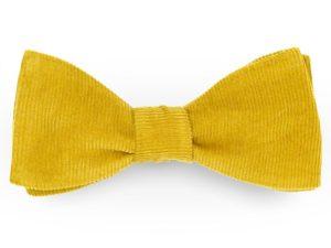 Le Coq en Pap' - Noeud papillon jaune miel uni en velours
