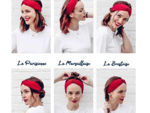 Le Coq en Pap' - Bandeau turban fleuri liberty betsy p