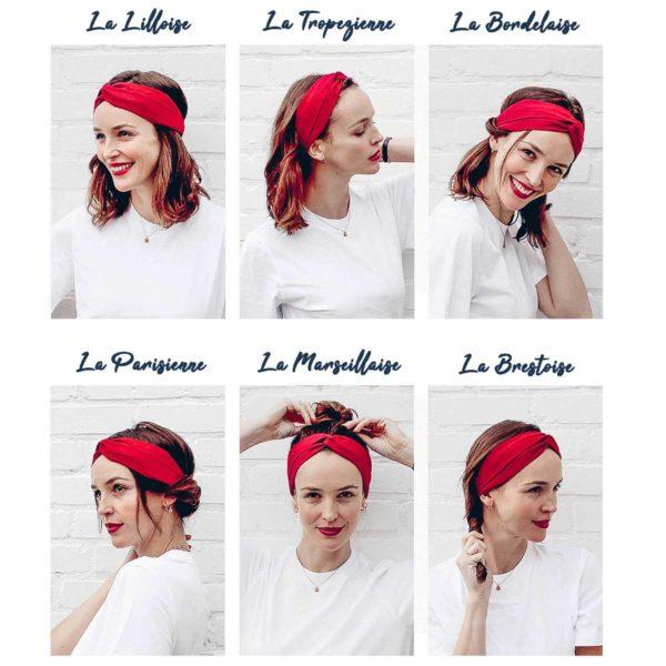 Le Coq en Pap' - Bandeau turban fleuri liberty betsy ann b