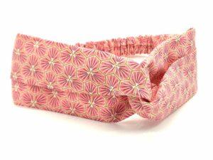 Le Coq en Pap' - Bandeau turban rose corail japonais kikko