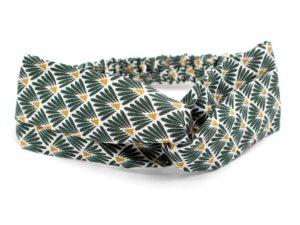 Le Coq en Pap' - Bandeau turban vert empire japonais leafy