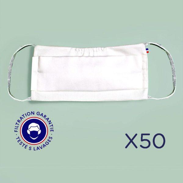 Le Coq en Pap' - Masques lavables Grand Public  (lot de 3) - LIVRAISON OFFERTE
