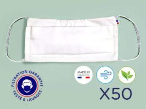 Le Coq en Pap' - Masques lavables Grand Public UNS2 (lot de 3) - LIVRAISON OFFERTE