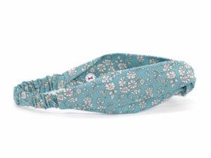 Le Coq en Pap' - Bandeau turban fleuri liberty capel n sea green