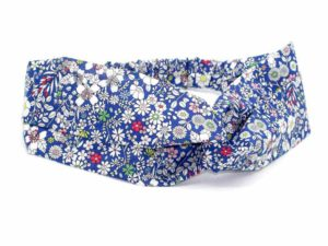 Le Coq en Pap' - Bandeau turban fleuri liberty june's meadow a