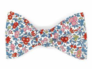 Le Coq en Pap' - Noeud papillon fleuri liberty chamomile lawn a