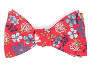 Le Coq en Pap' - Noeud papillon fleuri liberty edenham c