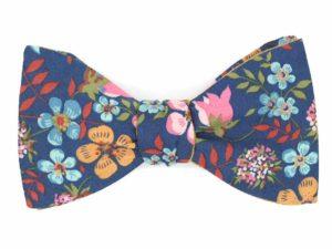 Le Coq en Pap' - Noeud papillon fleuri liberty edenham u glen river