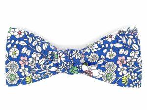 Le Coq en Pap' - Noeud papillon fleuri liberty june's meadow a