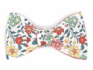 Le Coq en Pap' - Noeud papillon fleuri liberty margaret annie c
