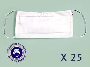 Le Coq en Pap' - Masques lavables Grand Public (lot de 25) - LIVRAISON OFFERTE