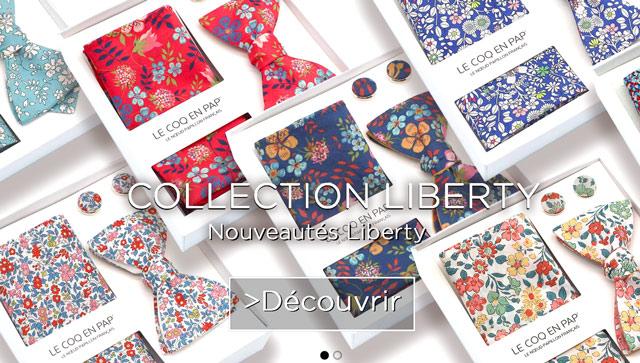 Nouvelle Collection liberty noeud papillon lecoqenpap mobile