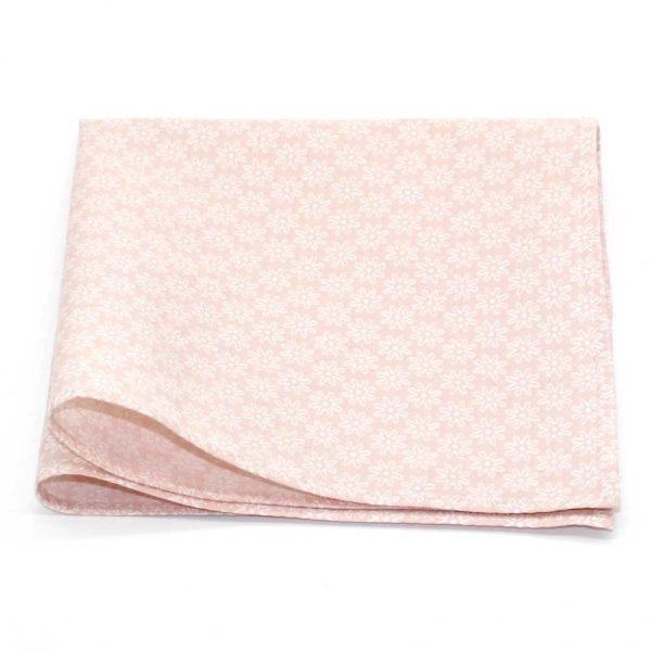Le Coq en Pap' - Pochette de costume fleuri rose nude rosace