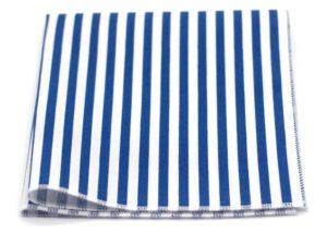 Le Coq en Pap' - Pochette de costume bleu et blanc rayée marin