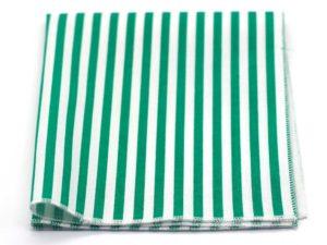Le Coq en Pap' - Pochette de costume vert et blanc rayée