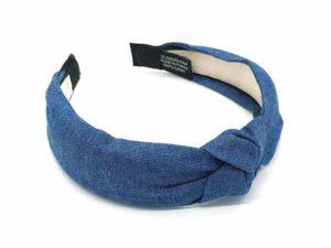 Le Coq en Pap' - Serre tête bleu denim jean brut foncé