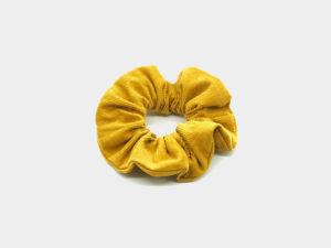 Le Coq en Pap' - Chouchou jaune miel uni en velours