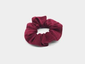 Le Coq en Pap' - Chouchou rouge bordeaux uni en velours