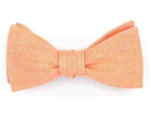 Le Coq en Pap' - Noeud papillon orange mandarine uni en lin
