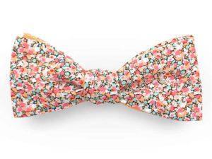 Le Coq en Pap' - Noeud papillon fleuri liberty pepper b